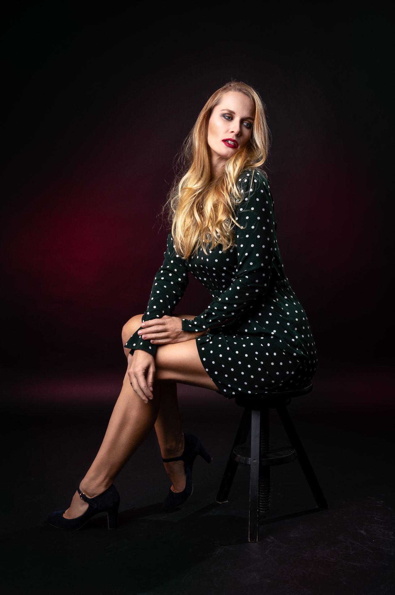 Fashionmodel im Fotostudio
