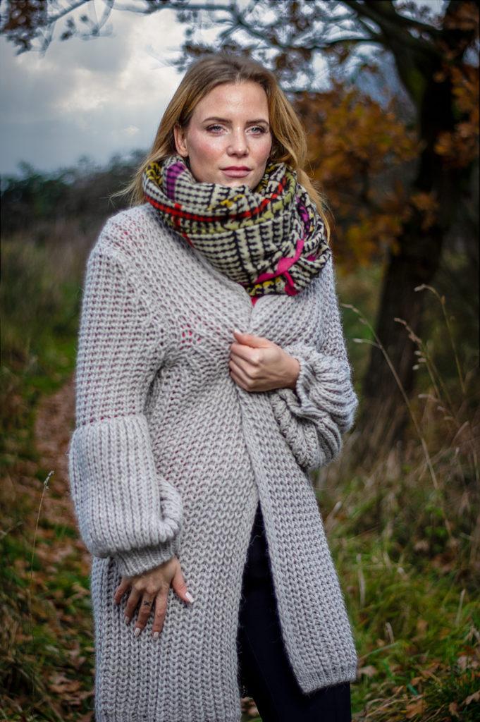 Fashionmodel fotografiert im Moor